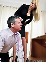 She has taken his job and now she is going to disrobe him of any...
