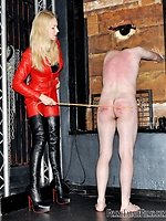 With 2 slaves in her BDSM room, Female-dominant Eleise has a wealth...