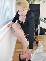 Miss de Lacy makes her male office assistant well aware of his...