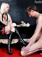 Domme Heather has a recent candidate for servitude - however,...