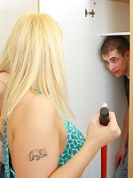 Ex-boyfriend caught snooping around gets a good ass-fucking and...