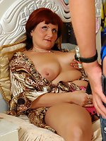 Lascivious chick offers her lover some strap-on amusement right in...