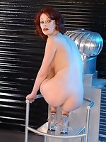 cute porn star Justine Joli as Techno Babe in foot fetish gallery