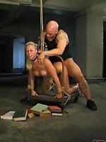 Derrick fucks his bitch hard in doggy before turning her over for...