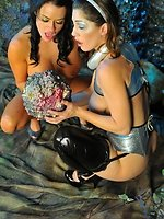 big boob scifi girls in lesbian tentacle sex action
