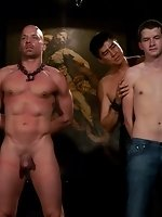 Devin Moss fucks Chad Rock tied up with his 10 inch cock