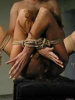 With a tight wet pussy on display while in tight rope bondage she...