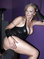 Slaves balls were beaten by Mistress Missy as Mistress Savannah...