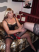 TGirl spread her legs on my tiger sheets and roared like a tiger as...