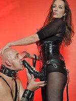 Submissive slut got fucked nice and hard by gorgeous domina