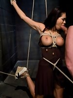 Hot Latin girl having sex in bondage