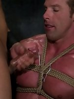 Derek screams while Van fucks him in hard bondage