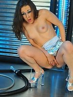 brunette fetish slut Sinn Sage in alien abduction interview