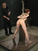 Plenty of sadistic caning, rough anal fucking, and ball-gagged...