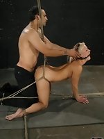 Jasmine Jolie is bound, flogged, fucked, spanked and choked with a...