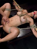 Busty Asian fucked and dominated in bondage