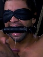 CJ Madison ties Dominic Pacifico to his horse chair and fucks him...
