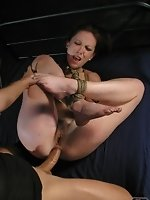 A very flexible body allows this bitch to be tied in the shape of a...