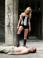 Diana and Madlen give two men an amazing femdom session