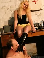 Ballbusting and more with our new young Goddess Mandy
