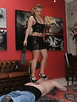 Goddess Anja punishes a disobedient slave