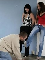 Nadine and Julia play with a cleaning slave
