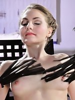 Gentle whipping of naked beauty