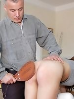 Failing to follow instructions earns 55 with a leather paddle for...