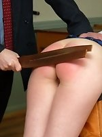 The heat is turned with a tawse for Belinda Lawsons burning buttocks