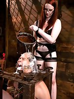 Tough as iron dominatrix tests male submissive's manhood with...